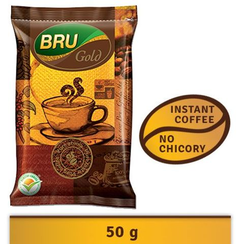 Bru Gold Instant Coffee, 50 g Pouch