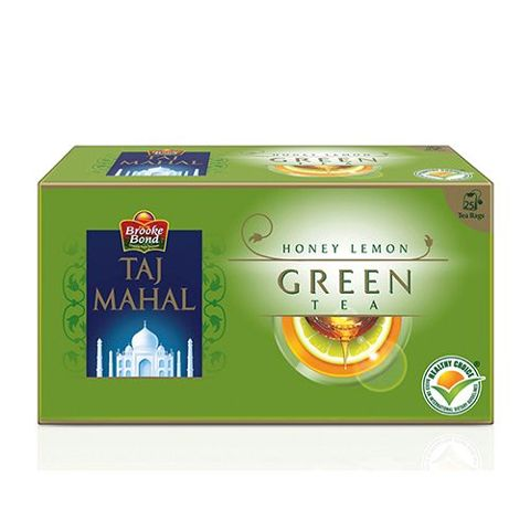 Taj Mahal Green Tea Bags - Honey Lemon, 25 pcs