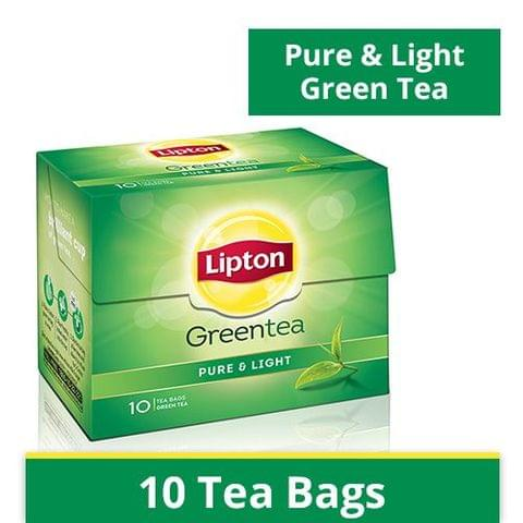 Lipton Green Tea Bags - Pure & Light, 10 nos Carton