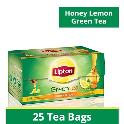 Lipton Green Tea - Honey Lemon, 25 pcs Carton