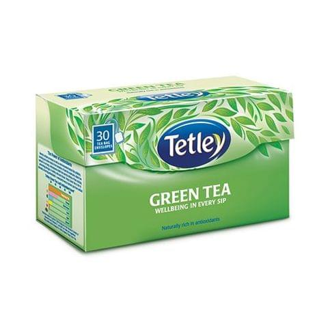 Tetley Green Tea Bags - Plain, 30 pcs Carton