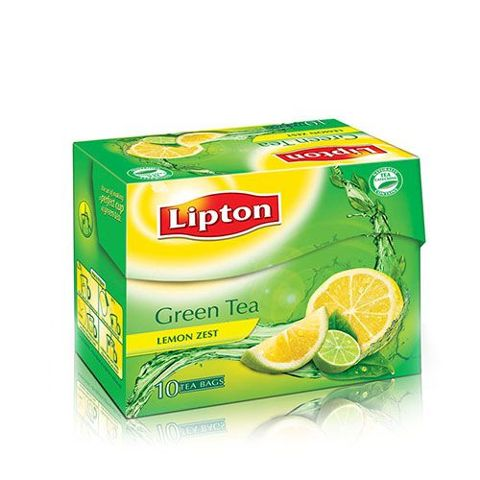 Lipton Green Tea - Lemon Zest, 10 nos Carton