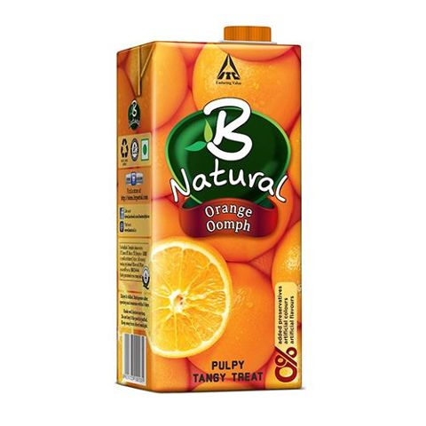 B Natural Juice - Orange Oomph, 1 lt Carton