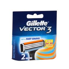 Gillette Vector 3 - Cartridges, 2 pcs Pouch