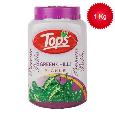 Tops Pickle - Green Chilli, 1Kg
