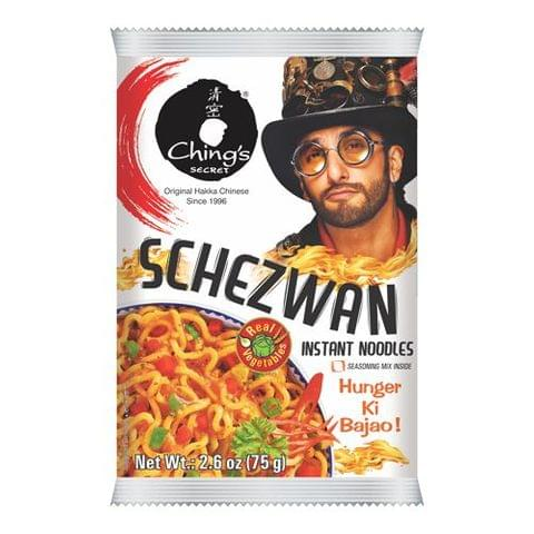 Chings Instant Noodles - Schezwan, 60 gm Pouch