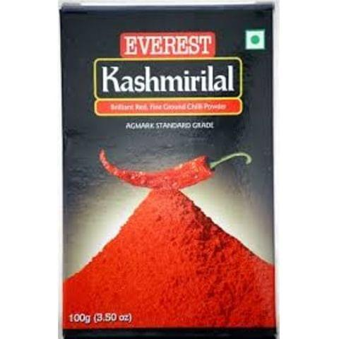 Everest Powder - Kashmirilal Ground Chilly, 100 gm Carton