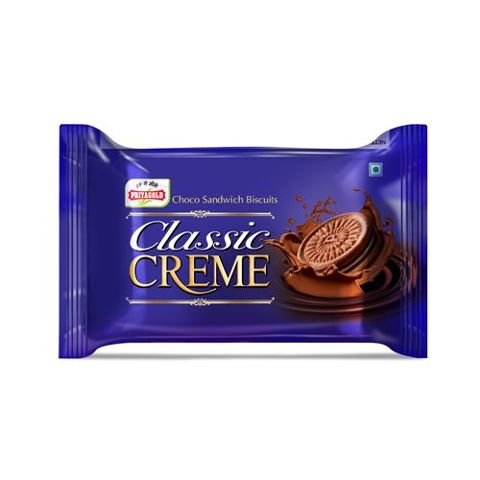 Priyagold Creme Biscuits - Classic Chocolate, 100 gm Pouch