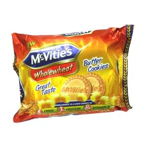 Mcvities Cookies - Whole Wheat Butter, 120 gm