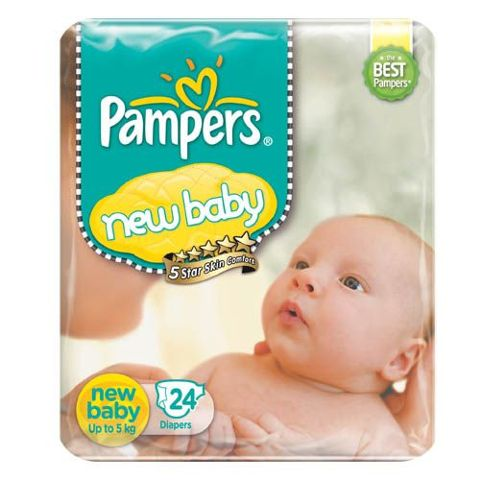 Pampers Active Baby Diaper - New Baby, 24 pcs Pouch