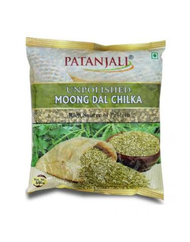 Patanjali UNPOLISHED MOONG DAL CHILKA, 500 gm