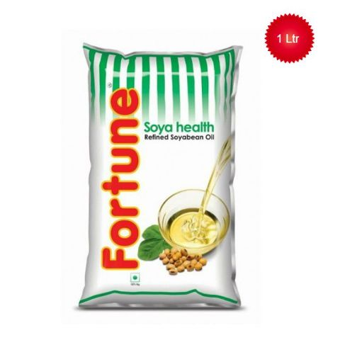 Fortune Refined Oil - Soya Bean, 1 ltr Pouch