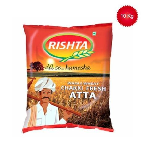 Rishta Whole Wheat Chakki Fresh Atta, 10 kg