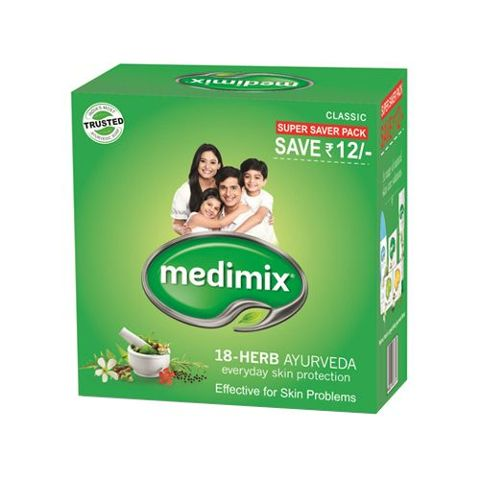 Medimix Bathing Soap - Ayurvedic Soap with 18 Herbs, 125 gm Pouch ( Pack of 3 )