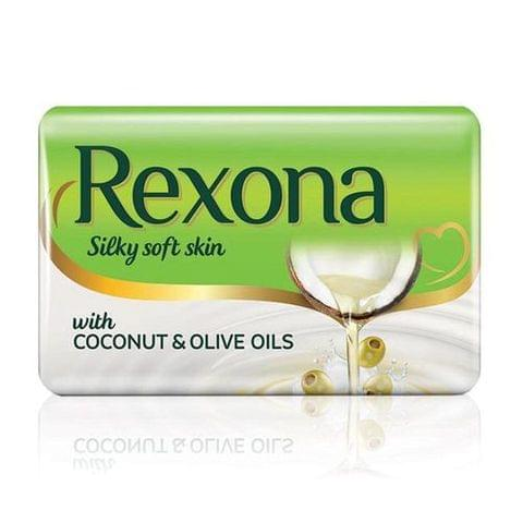 Rexona Silky Soft Skin Coconut & Olive Oil Soap Bar, 150 g pouch