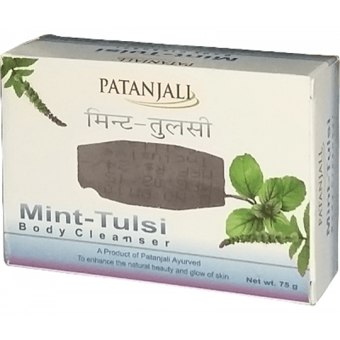 Patanjali Mint Tulsi Kanti - Body Cleanser, 75 gm