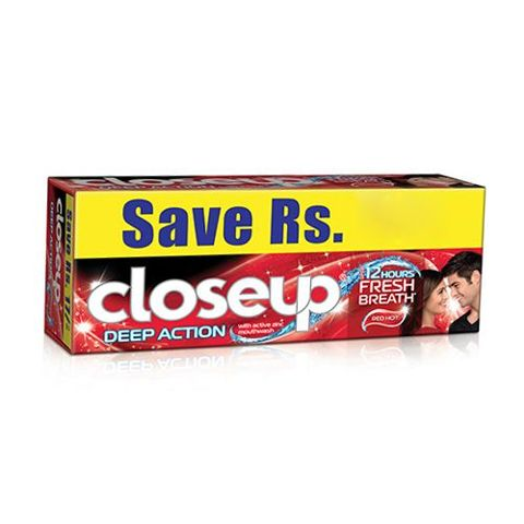 Close Up Deep Action Red Hot Gel Toothpaste, 150 gm ( Pack of 2 )