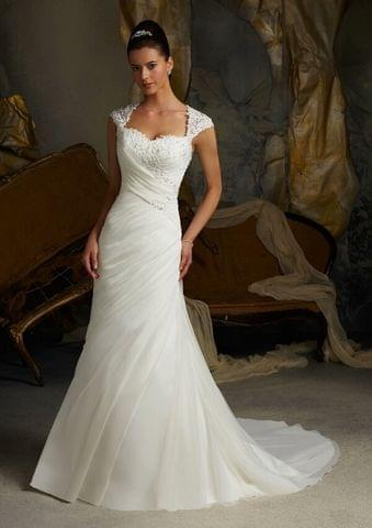 High-end Mermaid shaped wedding gown with train