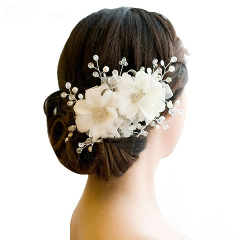 Latest bridal floral hair accessories