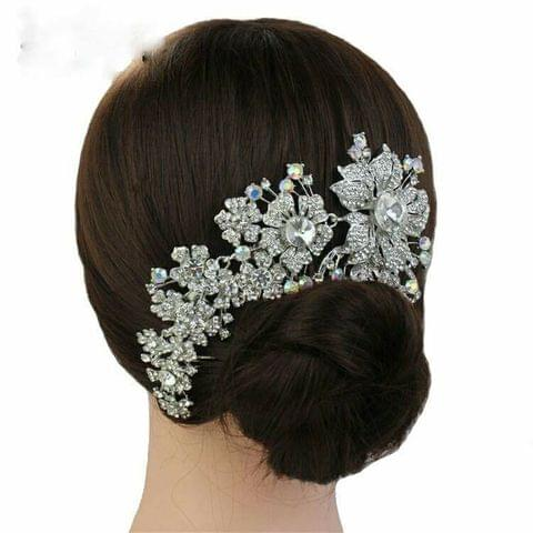Latest  fashion adjustable Bridal rhinestone hair comb