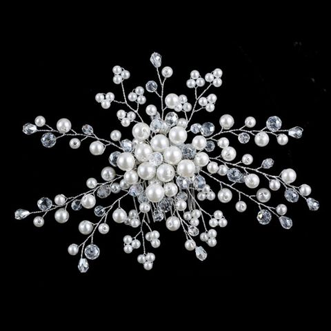 Pearl flower bridal hair accessory
