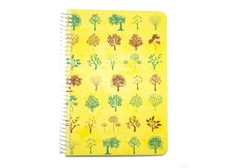 Diary A5 leaf yellow notebook