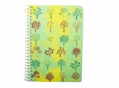 Diary A5 leaf green notebook