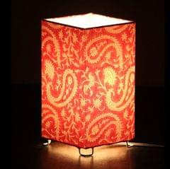 Pink Paisley Shortie Square table lamp