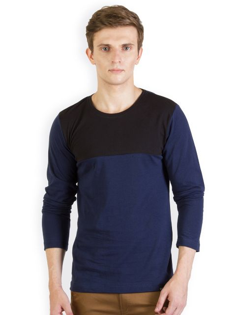 RIGO Blue Tshirt Black Yoke
