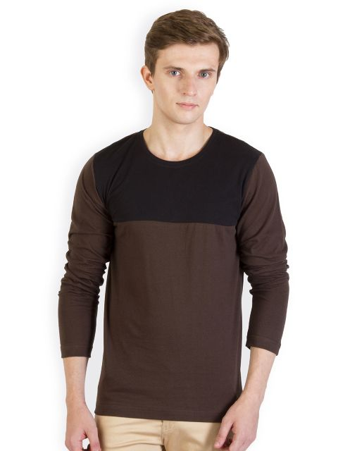 RIGO Brown Tshirt Black Yoke