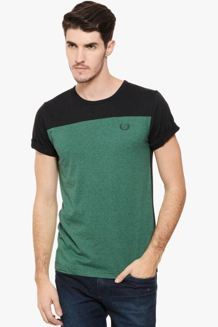 RIGO Green Melange Black Tee Shirt