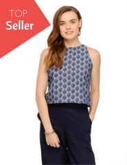 Rigo Abstract paisley print halter neck top