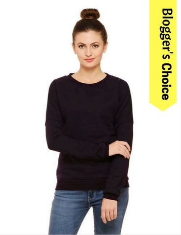 Rigo Dark Purple cold shoulder sweatshirt