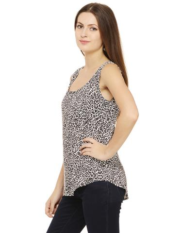 Rigo Black and White animal print top