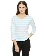 Rigo Striped Drop Shoulder Top