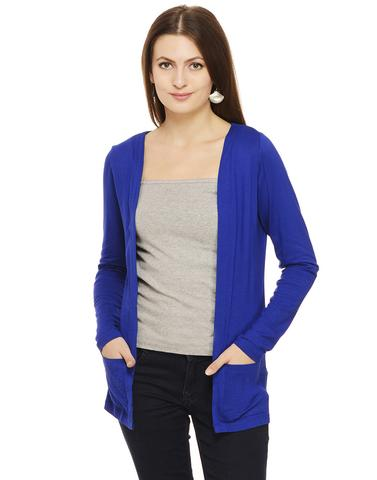 Royal Blue Winter Shrug
