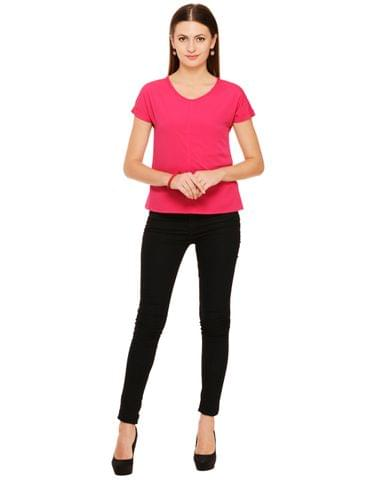 RIGO Pink Poly Crepe Body Tops