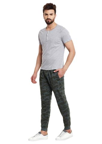 Army Green Camouflage Print SlimFIt Jogger