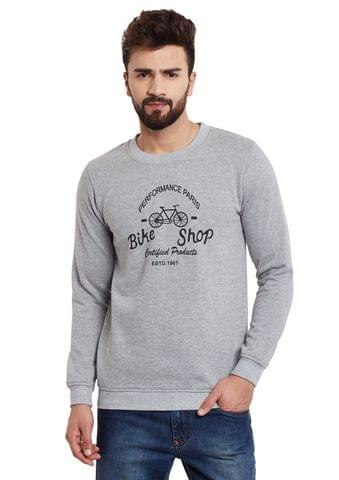 RIGO Bike Shop Grey Melange Fleece Sweatshirt