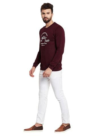 RIGO Bike Shop Solid Maroon Fleece Sweatshirt