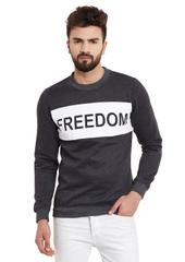 RIGO Freedom Charcoal Round Neck Fleece Sweatshirt