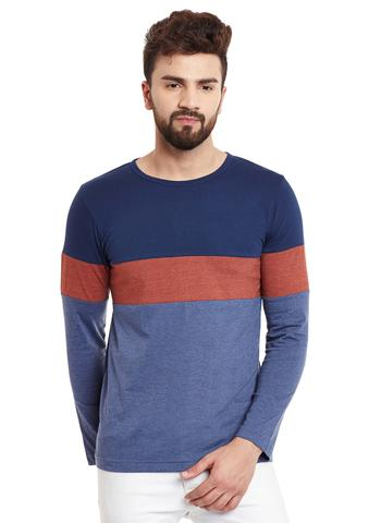 RIGO Multi Panel  Full Sleeve Round Neck Tee