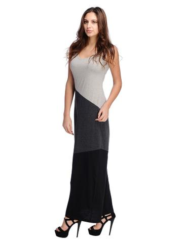 Rigo Sleeveless Color Block Maxi Dress