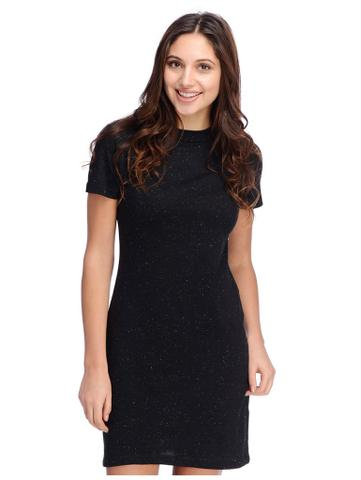 Rigo Black Textured Bodycon Dress
