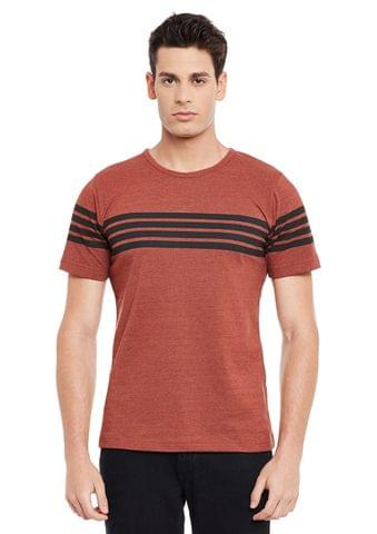 Rigo Rust Short Sleeve Solid Round Neck Tee