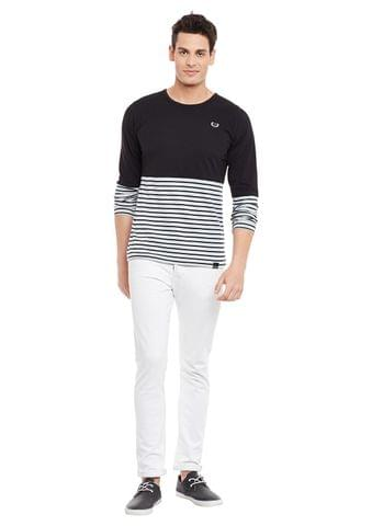 Rigo Multi Full Sleeve Striped Round Neck Tee