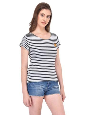RIGO Black Stripe Tee for women