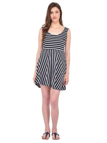 RIGO Navy and White Striped Swing Dress for women