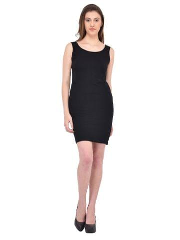 RIGO Black Sleevless Bodycon Dress for women