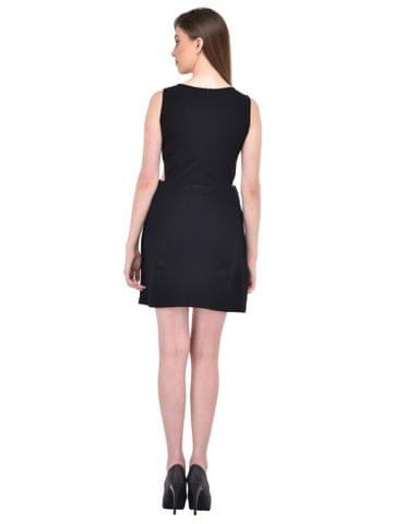 RIGO Black cutout waist Dress for women